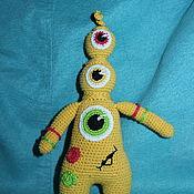 Мягкие игрушки ручной работы. Ярмарка Мастеров - ручная работа Монстрик-светофорчик. Handmade.