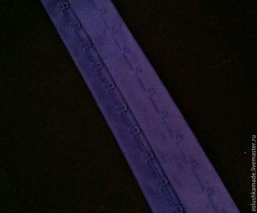 Шитье ручной работы. Ярмарка Мастеров - ручная работа. Купить Застежка двухрядная на ленте ярко-синяя 10 см. Handmade.