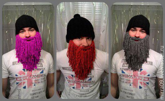 Шапки ручной работы. Ярмарка Мастеров - ручная работа. Купить Шапка с бородой. Handmade. Комбинированный, подарок, шапка викинга