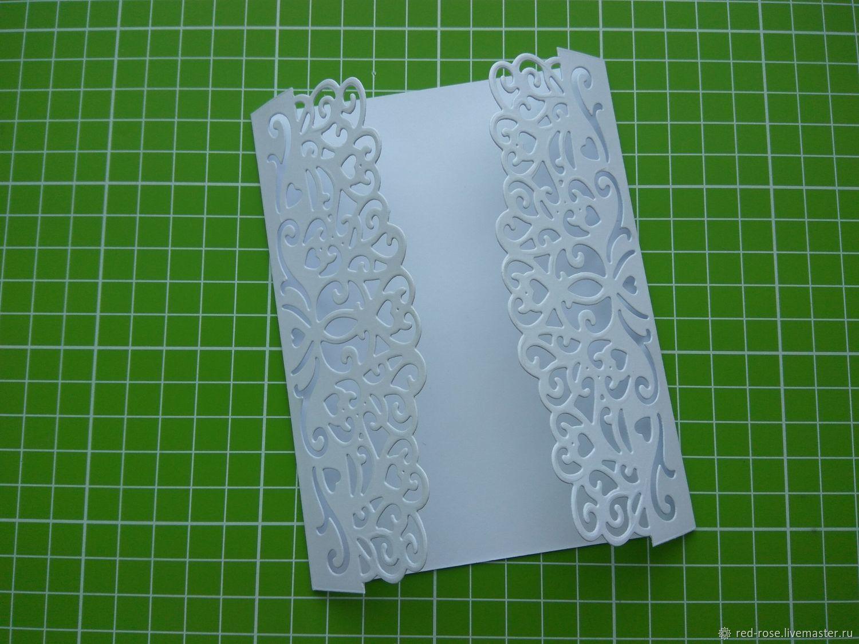 Как вырезать красивый край открытки, днем