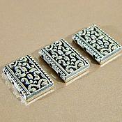 Accessories4 handmade. Livemaster - original item Separator beads on 3 strands, antique silver, 18 x 12 mm. 2 PCs. Handmade.
