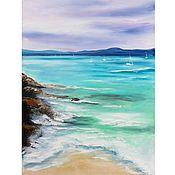 Картины и панно handmade. Livemaster - original item Oil painting sea Green wave Seascape. Handmade.
