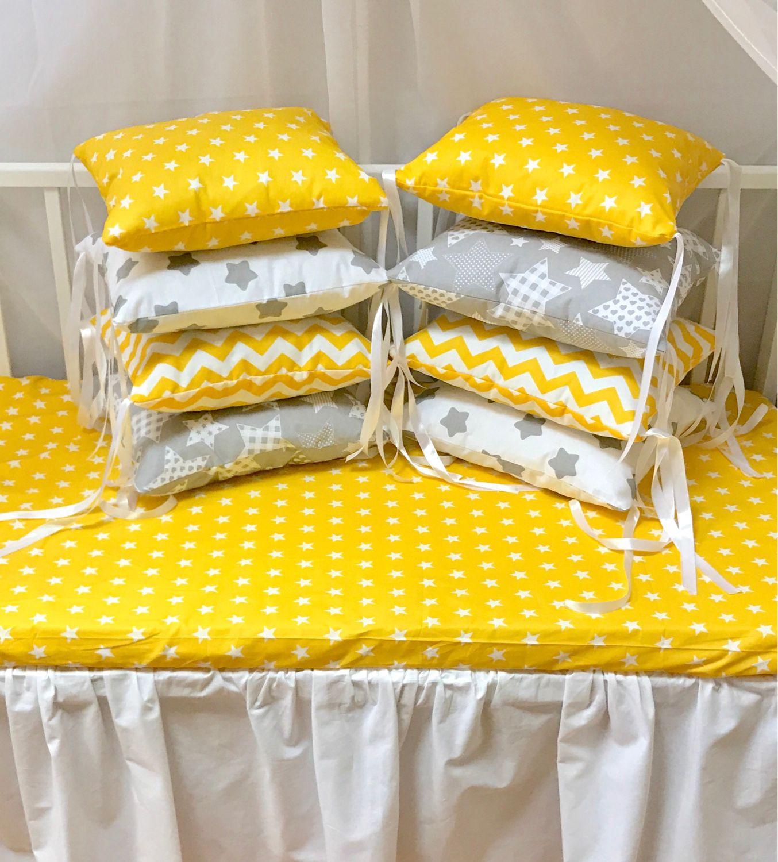 Бортики-подушки в круглую кроватку своими руками