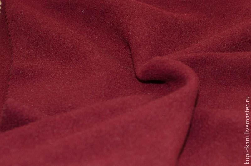 Ткань флис бордового цвета, Ткани, Москва,  Фото №1