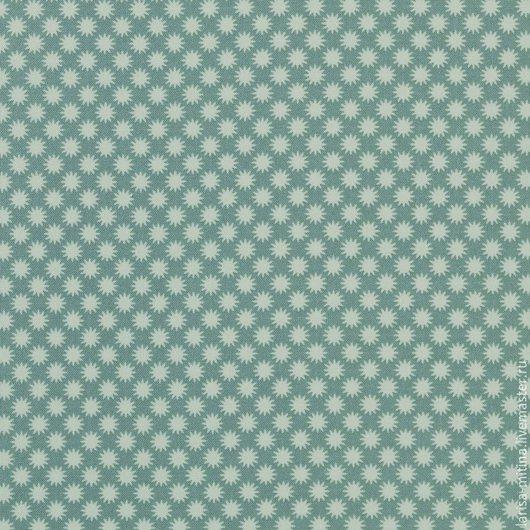 Шитье ручной работы. Ярмарка Мастеров - ручная работа. Купить Ткань Тильда  Little Sun Teal. Handmade. Разноцветный