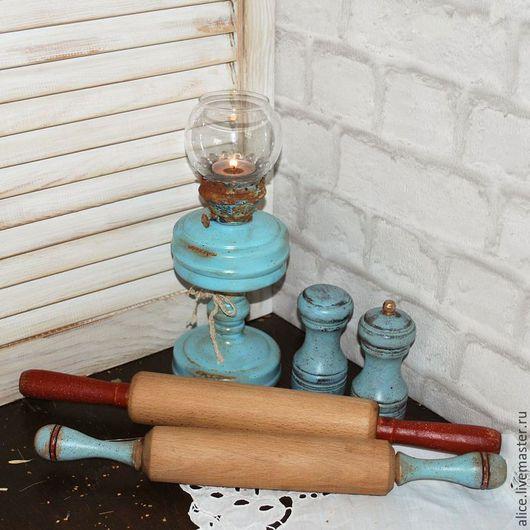 """Кухня ручной работы. Ярмарка Мастеров - ручная работа. Купить """"Мелочи кухни"""" Скалка. Handmade. Голубой, кухонный интерьер, дерево"""