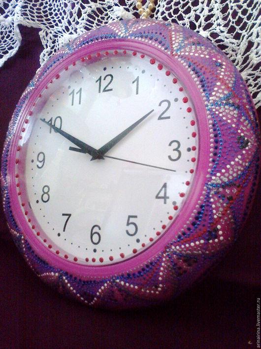 """Часы для дома ручной работы. Ярмарка Мастеров - ручная работа. Купить Часы """"В сиреневой дымке"""". Handmade. Розовый, время"""