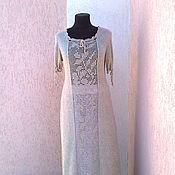 Одежда ручной работы. Ярмарка Мастеров - ручная работа платье льняное  бохо. Handmade.
