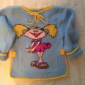 Работы для детей, ручной работы. Ярмарка Мастеров - ручная работа Джемпер для девочки. Handmade.