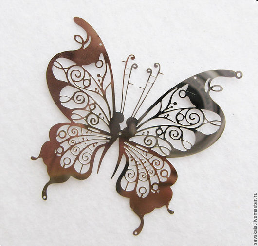 Подвеска бабочка, нержавеющая сталь, 46мм x 46мм