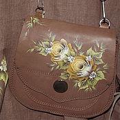 Сумки и аксессуары handmade. Livemaster - original item Leather handbag with painted. Handmade.