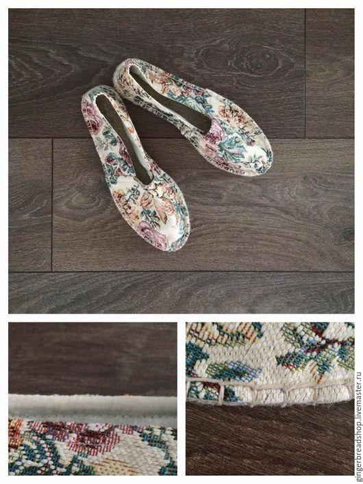 Обувь ручной работы. Ярмарка Мастеров - ручная работа. Купить Эспадрильи №5 и №6. Handmade. Комбинированный, цветочный, лето 2016