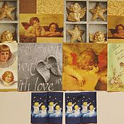 """Материалы для творчества ручной работы. Ярмарка Мастеров - ручная работа """"Ангелы"""" набор салфеток для декупажа 10 шт.. Handmade."""