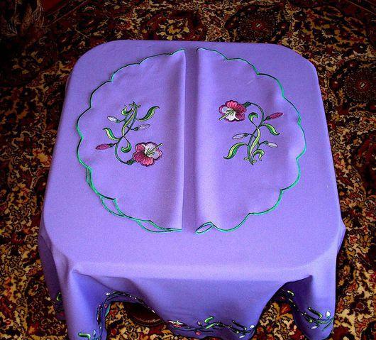 """Текстиль, ковры ручной работы. Ярмарка Мастеров - ручная работа. Купить Комплект """"Колокольчики"""". Handmade. Салфетка, подарок"""