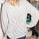 Кофты и свитера ручной работы. Серый пуловер с рельефным рисунком. Мария Сухорукова (suhma). Интернет-магазин Ярмарка Мастеров. Однотонный
