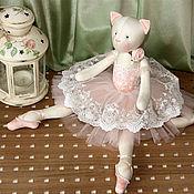 """Куклы и игрушки ручной работы. Ярмарка Мастеров - ручная работа Кошка """"На кончиках пуантов..."""". Handmade."""