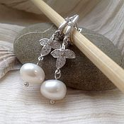 Украшения handmade. Livemaster - original item Earrings with pearls