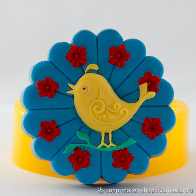 Silicone mold for soap 'Bird', Form, Shahty,  Фото №1
