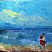 Картины и панно ручной работы. Ярмарка Мастеров - ручная работа Двое на берегу.. Handmade.