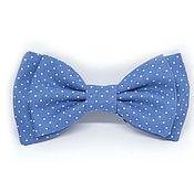 Аксессуары handmade. Livemaster - original item Bow tie blue polka dot. Handmade.