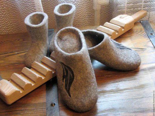 Обувь ручной работы. Ярмарка Мастеров - ручная работа. Купить У камина. Handmade. Серый, тапочки валяные