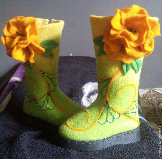 Обувь ручной работы. Ярмарка Мастеров - ручная работа. Купить валенки детские. Handmade. Валяная обувь, натуральная овечья шерсть