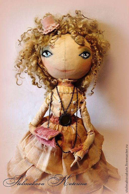 Коллекционные куклы ручной работы. Ярмарка Мастеров - ручная работа. Купить Барбара. Handmade. Розовый, хлопок, мохер