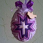 Подарки к праздникам ручной работы. Ярмарка Мастеров - ручная работа Пасхальное яйцо в технике артишок. Handmade.
