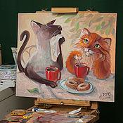 Картины и панно ручной работы. Ярмарка Мастеров - ручная работа Чаепитие 2. Handmade.
