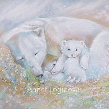 Картины и панно ручной работы. Ярмарка Мастеров - ручная работа Там, где спят медведи. Handmade.