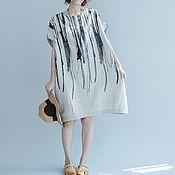 Одежда handmade. Livemaster - original item dress linen for home and for the city. Handmade.