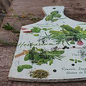 Для дома и интерьера ручной работы. Ярмарка Мастеров - ручная работа доска разделочная травы Прванса зелень лета. Handmade.
