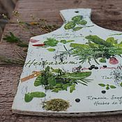 Доски ручной работы. Ярмарка Мастеров - ручная работа Доска разделочная травы Прованса пицца. Handmade.
