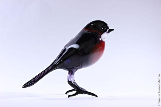 Статуэтки ручной работы. Ярмарка Мастеров - ручная работа. Купить Стеклянная фигурка птицы снегирь. Handmade. Снегирь, стекло