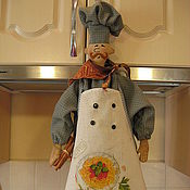 """Для дома и интерьера ручной работы. Ярмарка Мастеров - ручная работа Пакетница """"Итальянский повар Джордано"""". Handmade."""