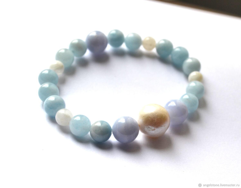 Bracelets handmade. Livemaster - handmade. Buy Bracelet women On waves.Blue, the bracelet on the arm