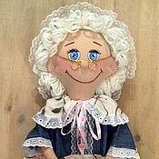 """Для дома и интерьера ручной работы. Ярмарка Мастеров - ручная работа Кукла - пакетница """"джинс"""". Handmade."""