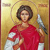 Картины и панно handmade. Livemaster - original item The Holy Martyr Tryphon.The icon is handwritten. Handmade.