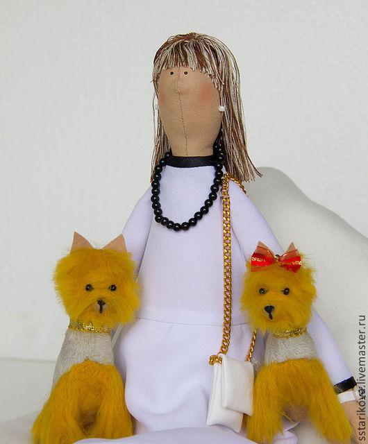 Портретные куклы ручной работы. Ярмарка Мастеров - ручная работа. Купить Екатерина с йорками. Handmade. Белый, кукла ручной работы