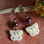 Украшения handmade. Livemaster - original item Earrings made of Yak bones