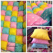 Для дома и интерьера ручной работы. Ярмарка Мастеров - ручная работа Лоскутное одеяло-бомбон. Handmade.