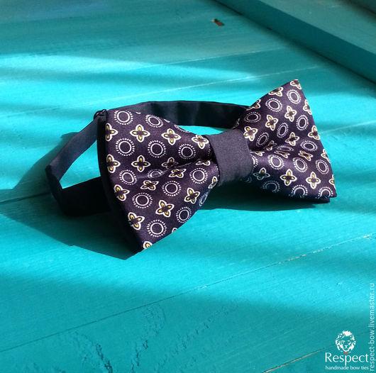 Галстуки, бабочки ручной работы. Ярмарка Мастеров - ручная работа. Купить Галстук бабочка темно-синяя Джентльмен. Handmade.