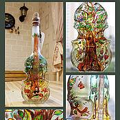 Посуда ручной работы. Ярмарка Мастеров - ручная работа бутылка-скрипка «Путь к себе». Handmade.