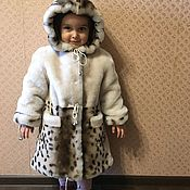 Работы для детей, handmade. Livemaster - original item Children`s mutton coat with trim