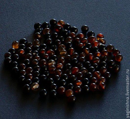 Для украшений ручной работы. Ярмарка Мастеров - ручная работа. Купить Агат красно-черный, бусины, -очень- мелкие бусины. Handmade.