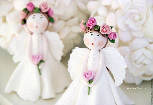 Сказочные персонажи ручной работы. Ярмарка Мастеров - ручная работа. Купить Милый ангелочек. Handmade. Ангелочек, кукла-ангел