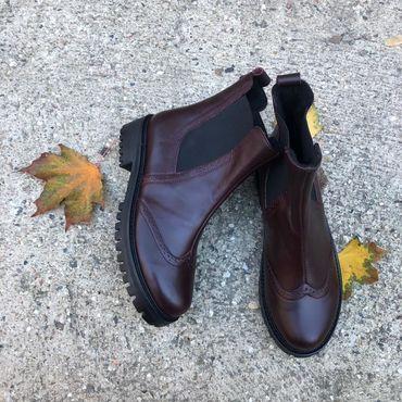 """Обувь ручной работы. Ярмарка Мастеров - ручная работа Челси """"бордо"""". Handmade."""