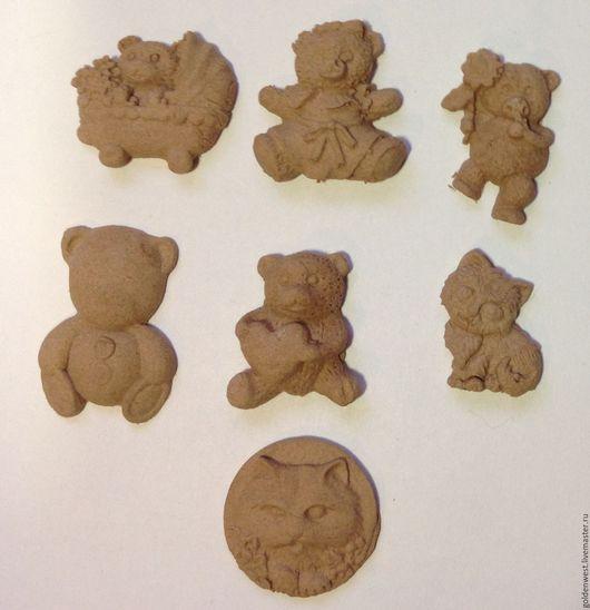 Аппликации, вставки, отделка ручной работы. Ярмарка Мастеров - ручная работа. Купить Декор N 88.Мишки-кошки. 7 видов.. Handmade.