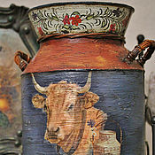 Цветы и флористика ручной работы. Ярмарка Мастеров - ручная работа РАСПРОДАЖА! бидон в стиле кантри. Handmade.