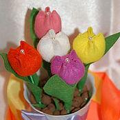 Цветы и флористика ручной работы. Ярмарка Мастеров - ручная работа Мини тюльпаны. Handmade.